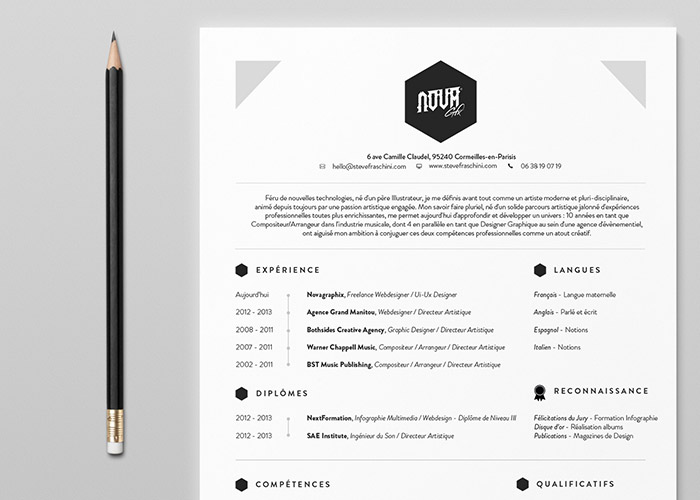 Flat Design Inspiration - Resume