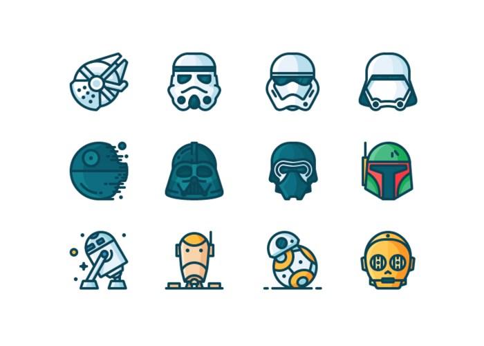 Star Wars Outline Artwork