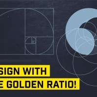 golden ratio logo design illustrator