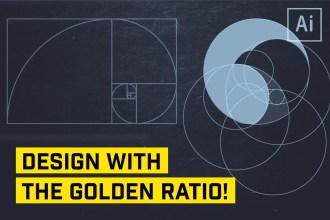 golden ratio logo design illustrator