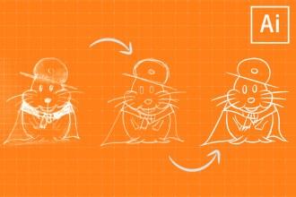 Learn to Sketch & Ink Artwork in Illustrator CC!
