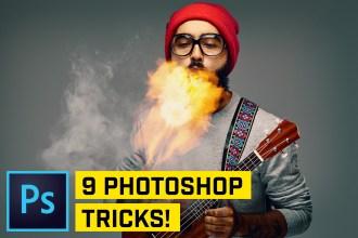 9 Photoshop HACKS in 90 SECONDS