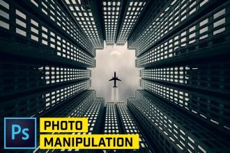 Urban Airplane Photo Manipulation in Photoshop