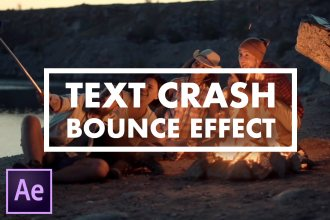 Text Crash/Bounce Animation Effect - After Effects Tutorial