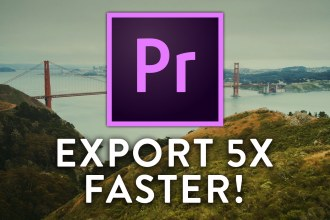 Export Video 5X FASTER From PREMIERE PRO CC!