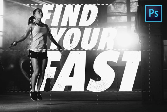 How To Mix Typography and Images to Create a Nike Inspired Poster