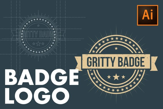 How to create a BADGE LOGO in Illustrator CC!