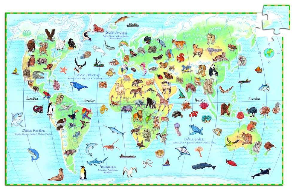 פאזל חוברת 100 - העולם