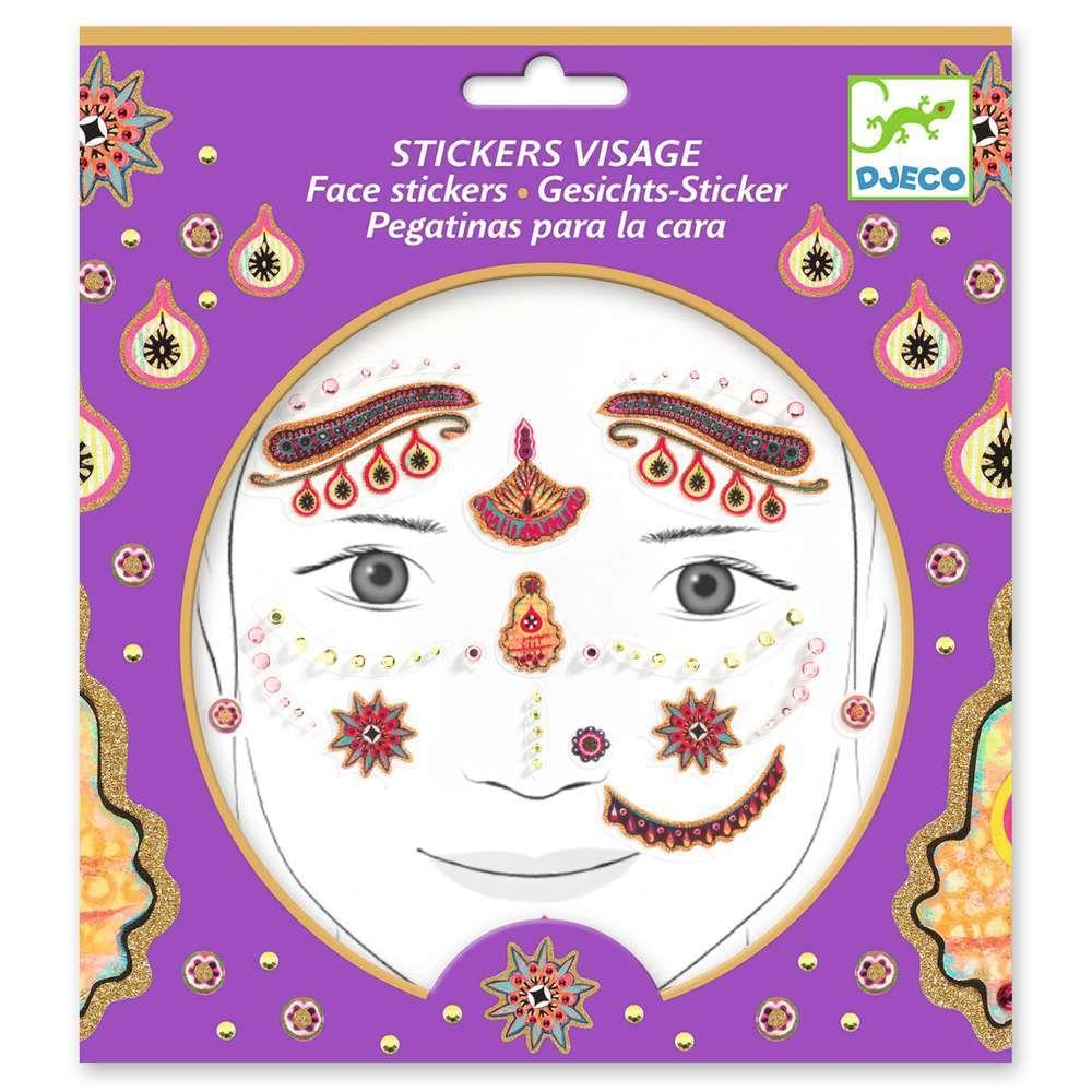 מדבקות פנים - נסיכה הודית
