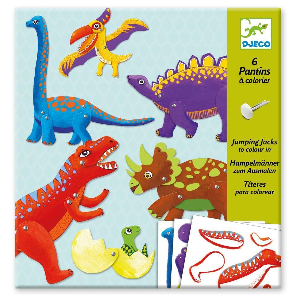 יצירה נעצים - דינוזאור