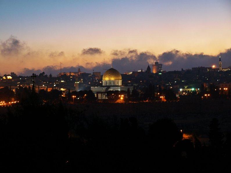 Widok na Jarozolimę z Wzgórza Oliwnego