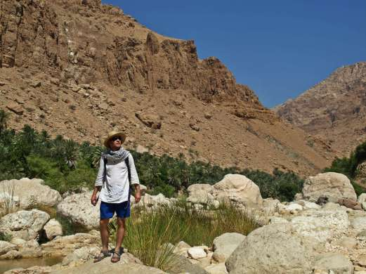 """W """"dolinie"""" Wadi Tiwi"""