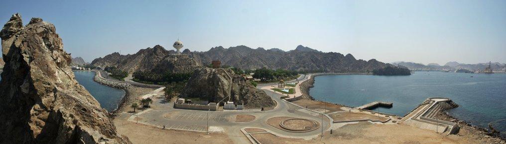 Widok z baszty w okolicach Mutrah