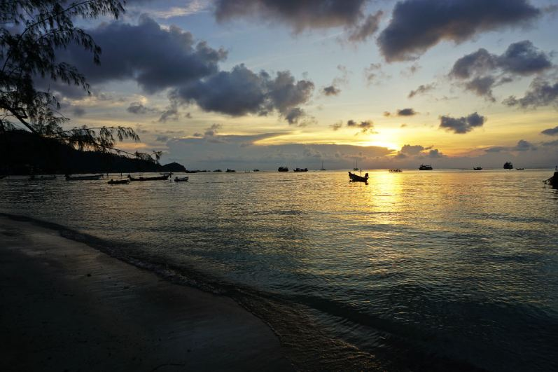 Sairee beach - zachód słońca