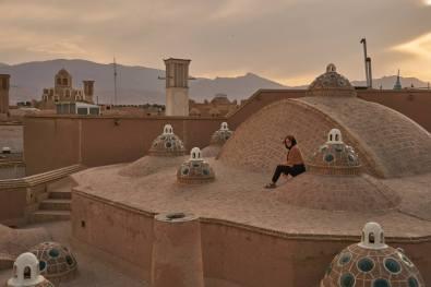 Na dachu łaźni...