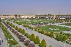 Widok na Plac Imamma w Isfahanie z innej perspektywy