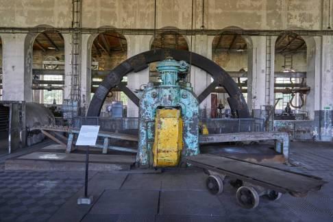 Walcownia - koło zamachowe pieca parowego