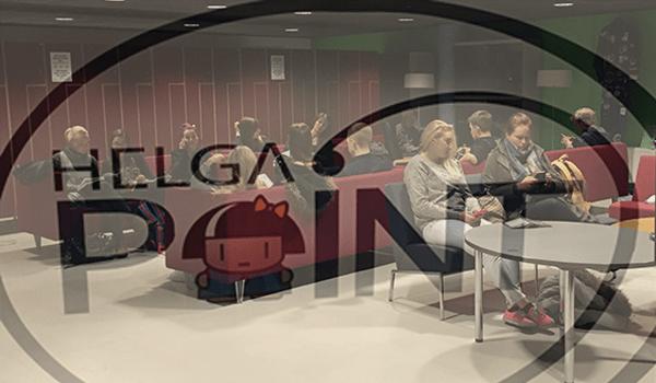 Helga point at Haaga-Helia Pasila