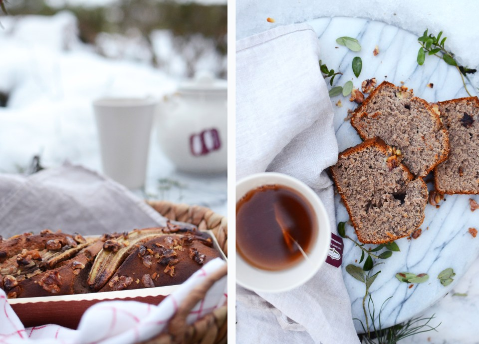 Healthy gluten-free Banana Bread | tuulia blog