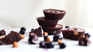 Raw Almond & Blueberry Chocolate Treats