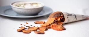 Bataattisipsit & Tahini-cashew-dippi