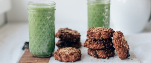 Healthy Breakfast Cookies w/ Nuts, Oat & Banana