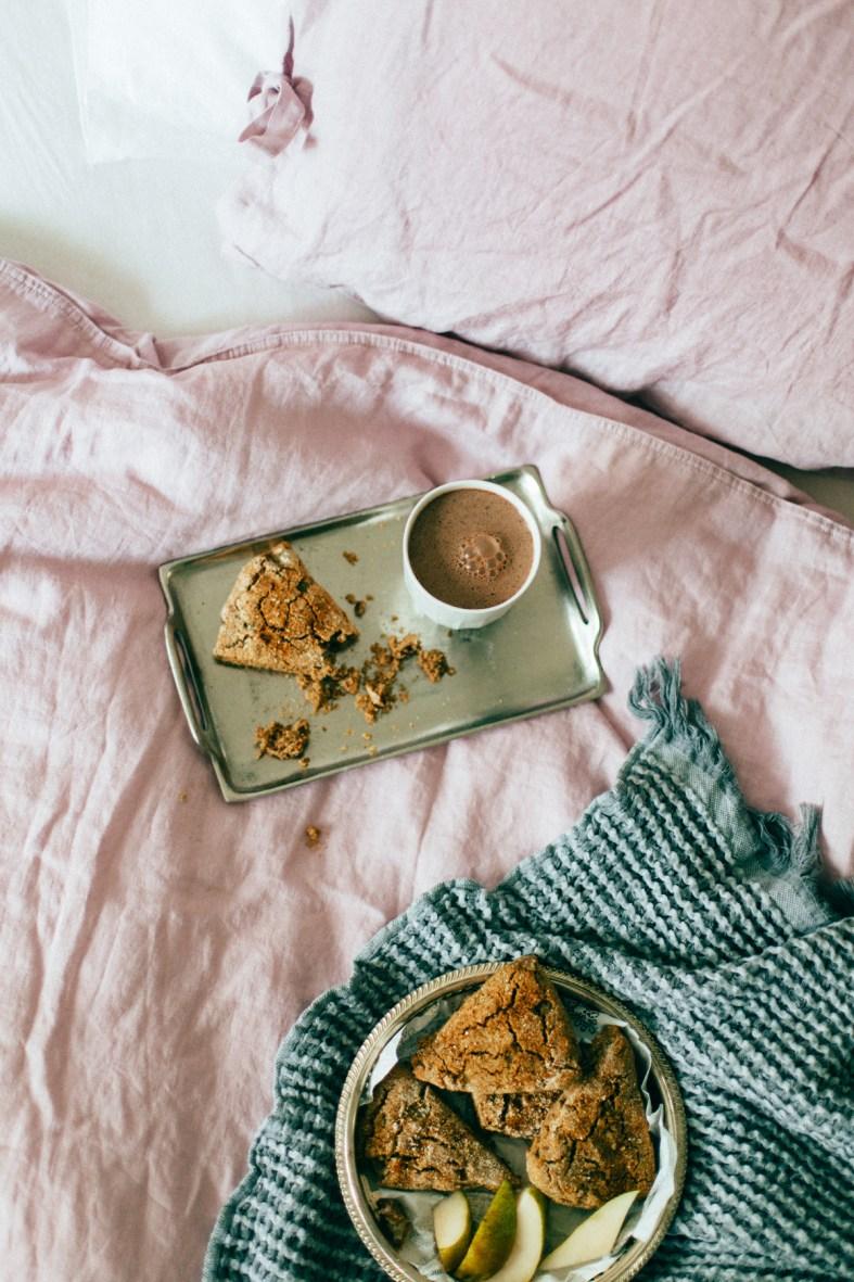Sundays in Bed: Gluten-free Pear & Pecan Scones | tuulia blog