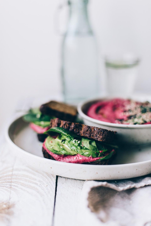 Vegan Super Veggie Sandwiches w/ Beetroot Hummus