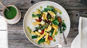 Spring Pasta Salad w/ Lemon & Basil (GF)