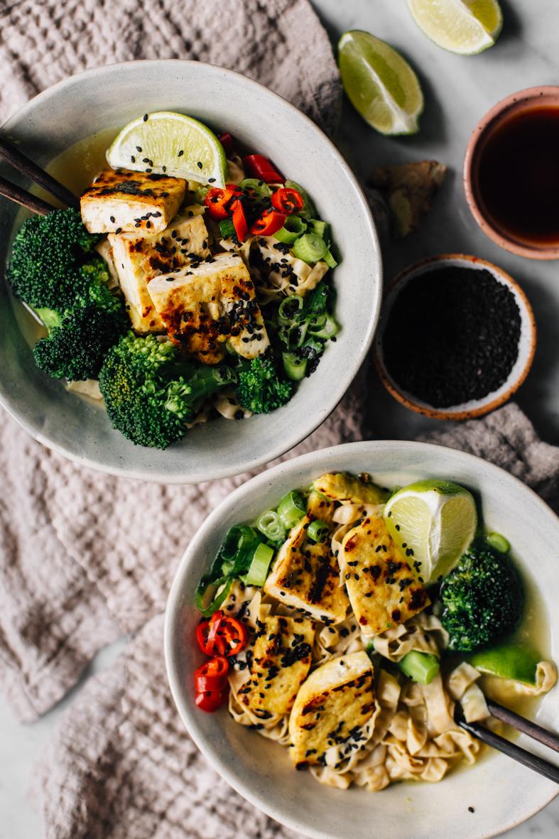 Vegan Noodle Soup with Tofu & Broccoli   tuulia blog