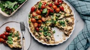 Helppoa kesäruokaa: Sieni-perunafrittata