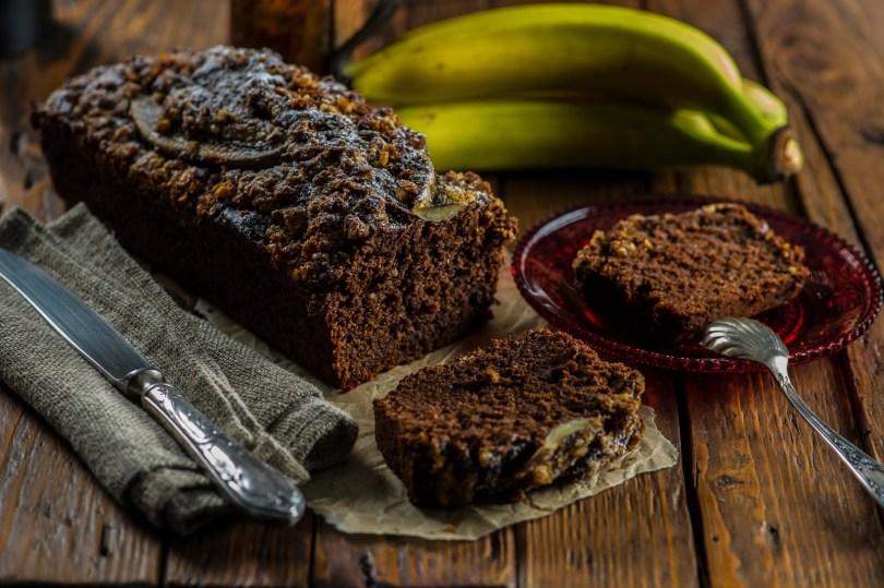 Banaanileib šokolaadi ja espressoga