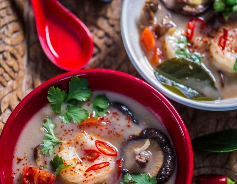 Tom Yum ehk Tai hapukas-vürtsikas krevetisupp