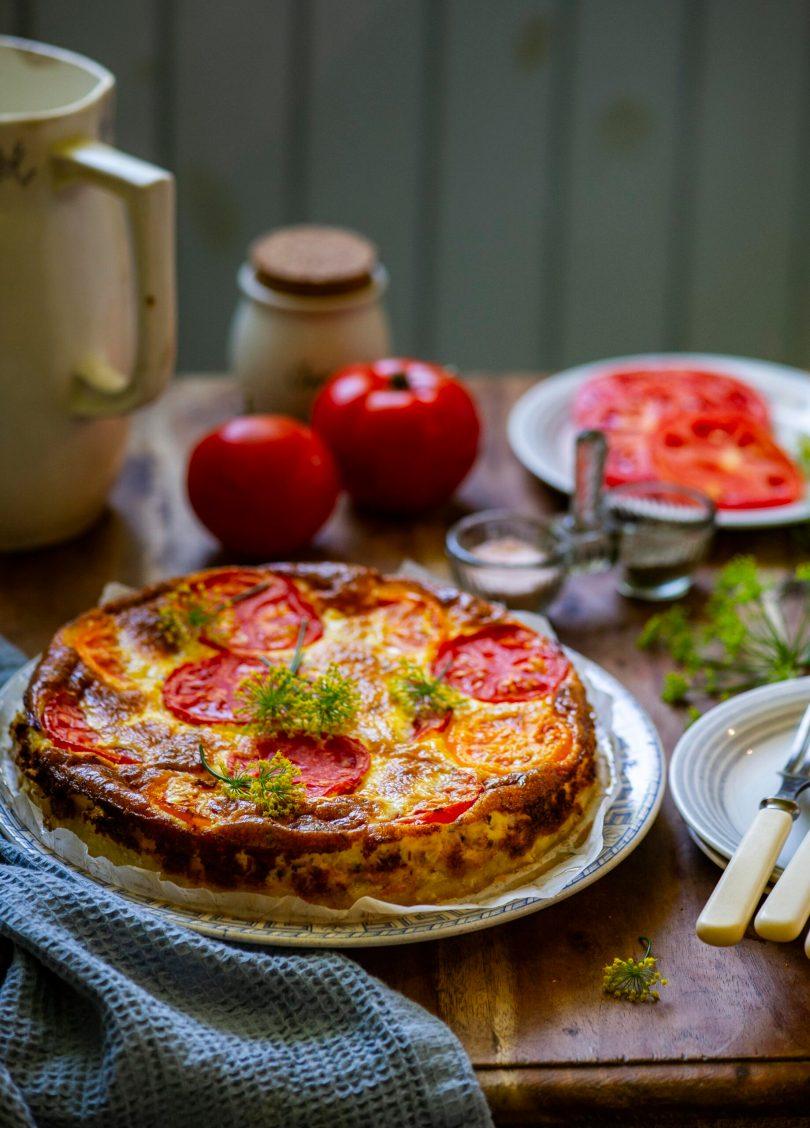Juustune singipirukas tomatikatte all