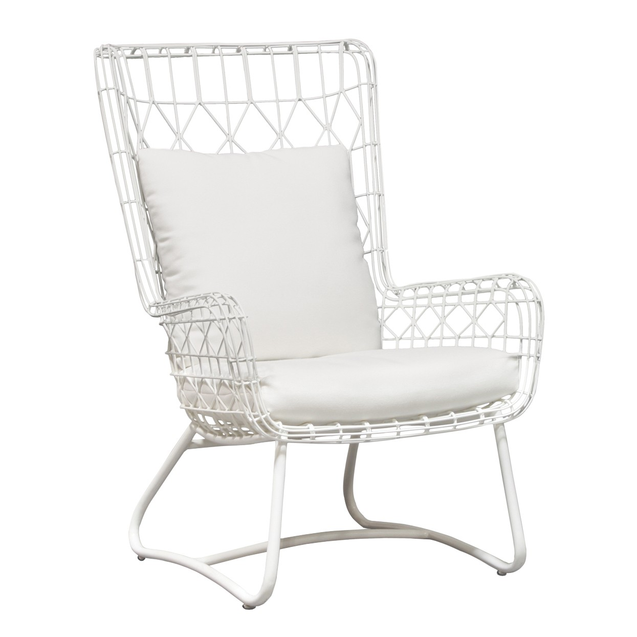 White Wing Chair Palecek Capri Outdoor Wing Chair White