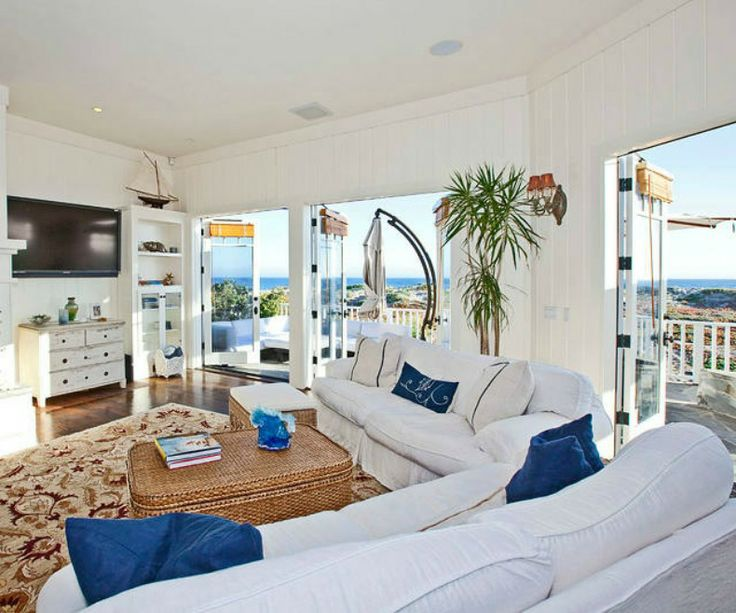 Coastal living room witha beauitful view
