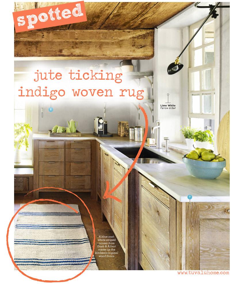 coastal kitchen rugs inexpensive spotted dash albert jute ticking indigo woven rug tuvalu home