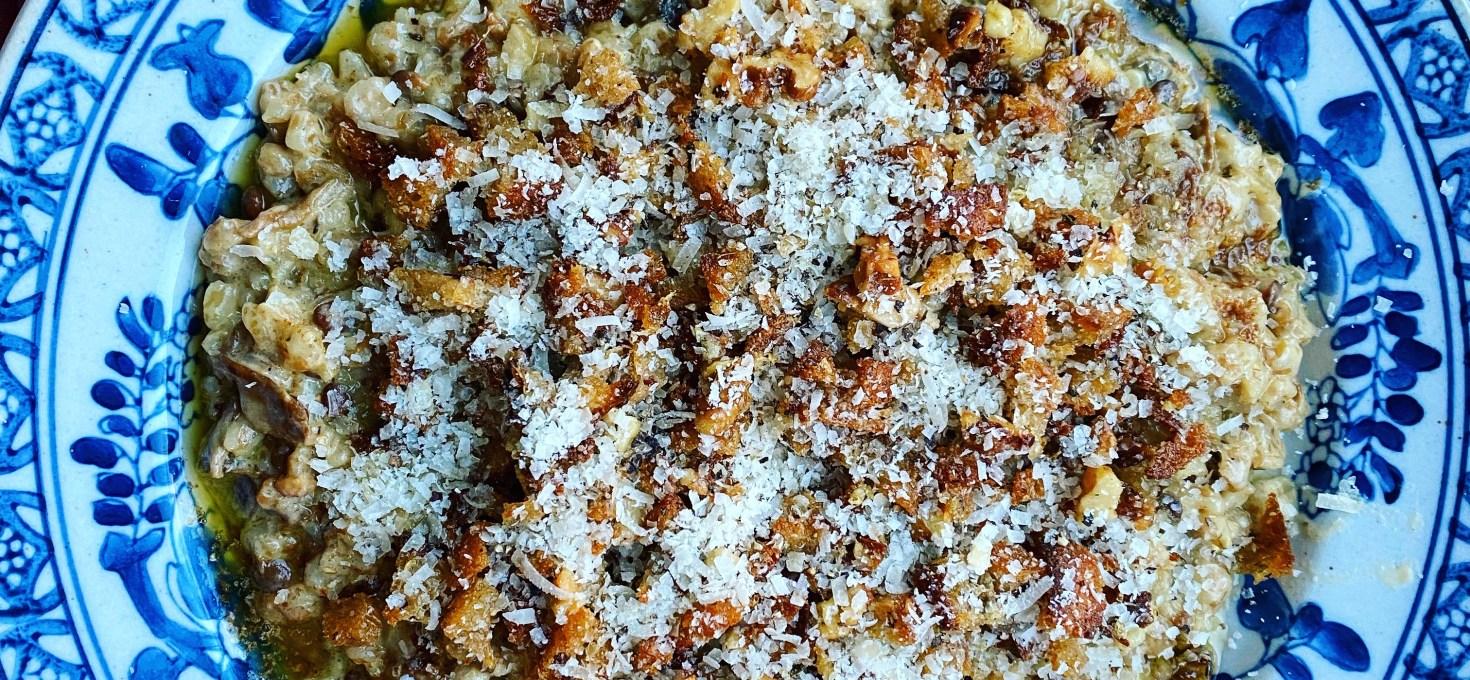 Grynotto med svamp och parmesan