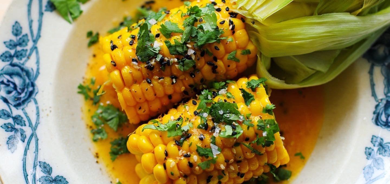 Majs med jalapeño- och limesmör