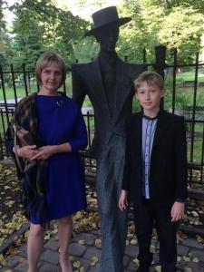 Inese ar dēlu Miķeli. Foto no personīgā arhīva