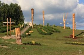 Attēlos Kristus Karaļa kalna skulptūru parks. Avots: agkk.lv