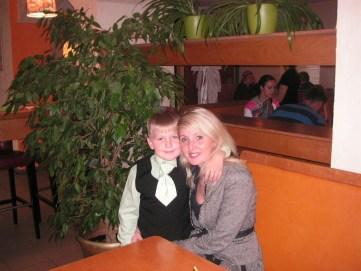 Evija ar dēlu Ēriku. Foto no personīgā arhīva