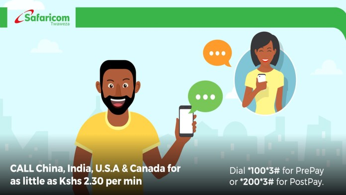 How to purchase international calls voice bundles on the Safaricom network