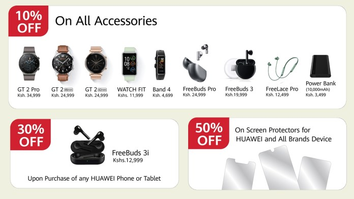 Huawei mobile Kenya unveils a number of discounts on products and accessories this Easter