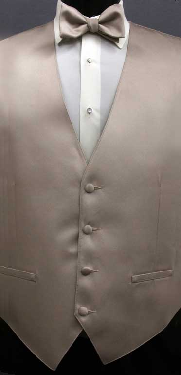 Biscotti Simply Solid Vest with matching bow tie