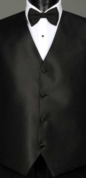 Black Devon Vest with matching bow tie