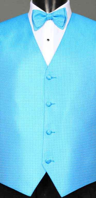 Blue Ice Devon vest with matching bow tie