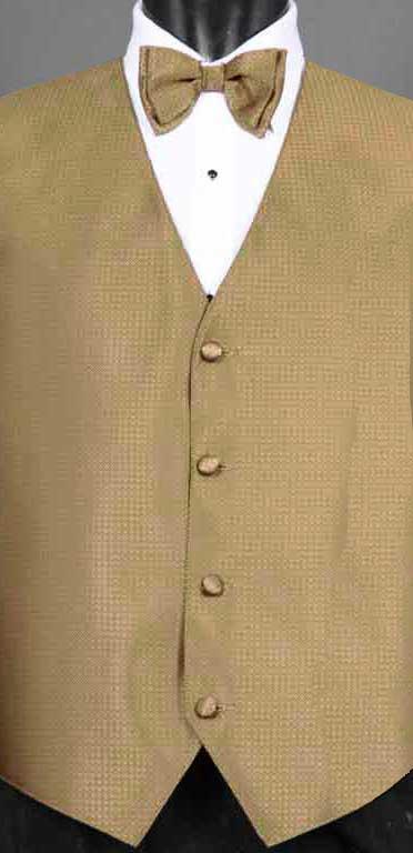 Bronze Devon Vest with Matching Bow Tie