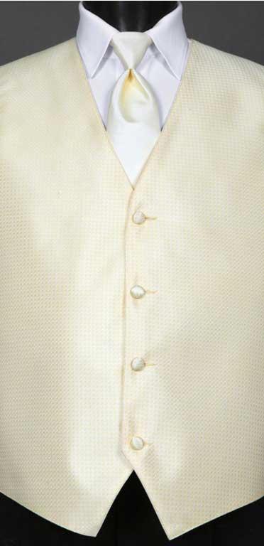 Canary Devon Vest with Matching Windsor Tie