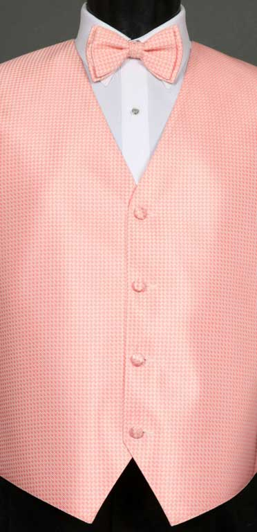 Candy Pink Devon Vest with matching bow tie